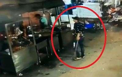 Man seen vandalising shops in Delhi's Welcome area