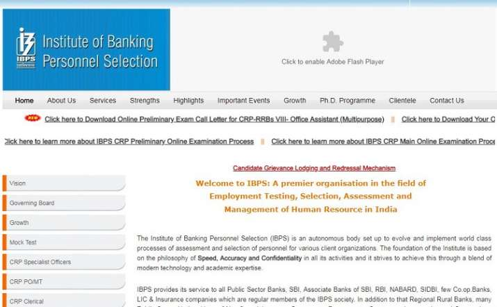 IBPS RRB clerk admit card 2019 released at ibps in  Direct