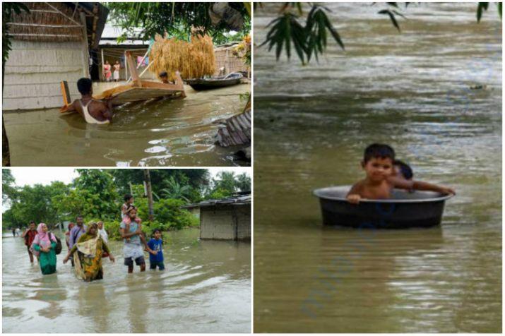 Bihar, Assam flood toll touches 174; widespread rains