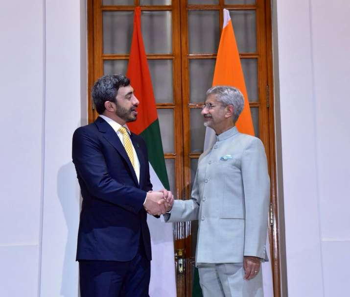 S Jaishankar holds talks with UAE Foreign Minister Sheikh