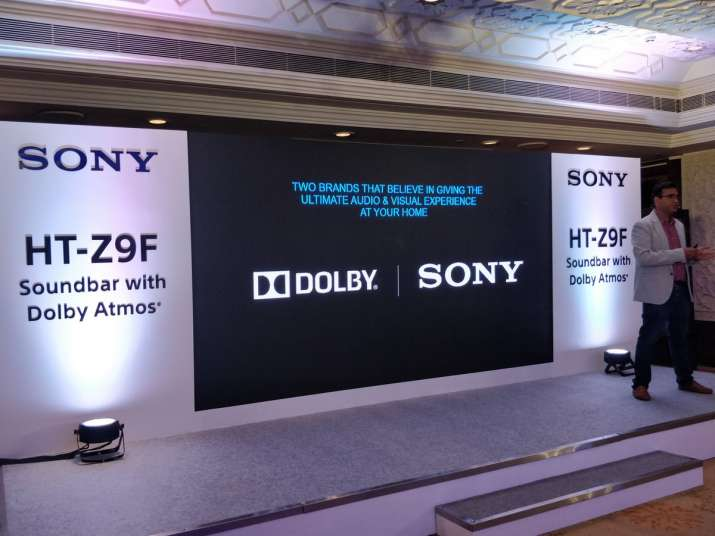 Sony launched its new soundbar, HT-Z9F supported by Dolby Atmos technology.