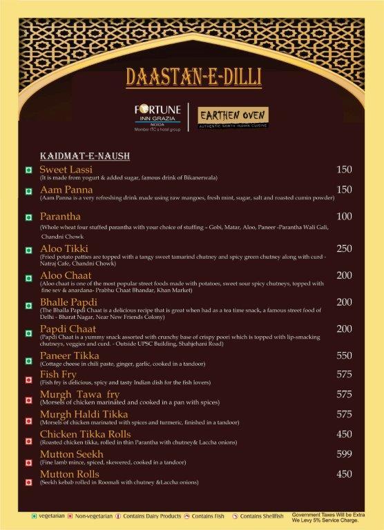 India Tv - Daastan-e-Dilli Food Menu