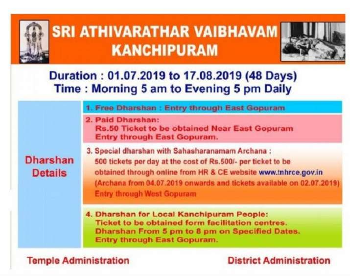 India Tv - Kanchipuram temple timings and ticket fee