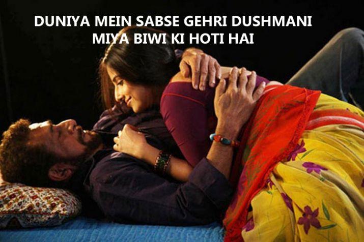 India Tv - Duniya mein sabsi gehri dushmani miya biwi ki hoti hai- Dedh Ishqiya