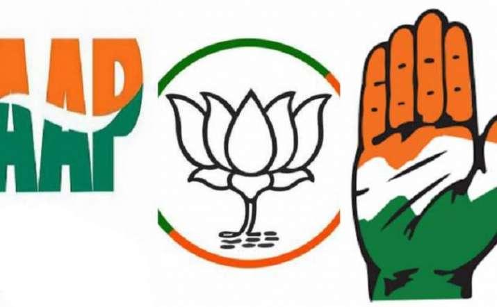 Image result for BJP congress , AAp