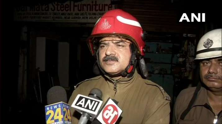 India Tv -   AK Malik, Divisional Officer, Delhi Fire Services: Fire category has been raised, 13 fire tenders are present at the spot. No casualty has been reported so far. Cause of fire yet to be ascertained.