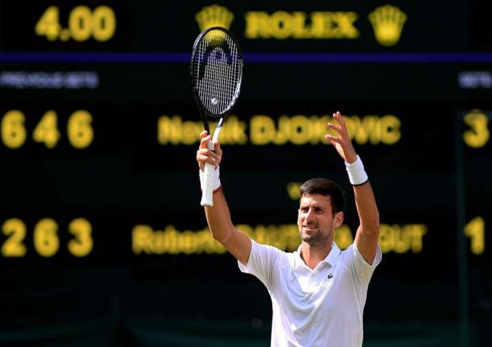 Wimbledon 2019: Novak Djokovic beats Roberto Bautista Agut to reach 6th final