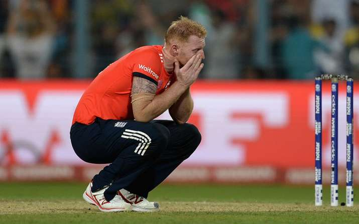 India Tv - Ben Stokes was slammed for 4 sixes by Carlos Brathwaite in the 2016 World T20 final