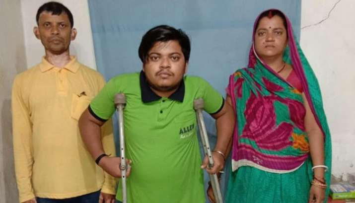 Physically challenged boy clears NEET after travelling