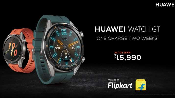 Huawei Watch GT Active with 1.39 inch AMOLED display, GPS and Real-time Heartrate monitoring launche