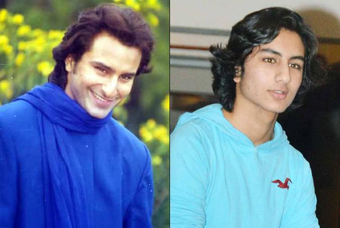 India Tv - Saif and son Ibrahim