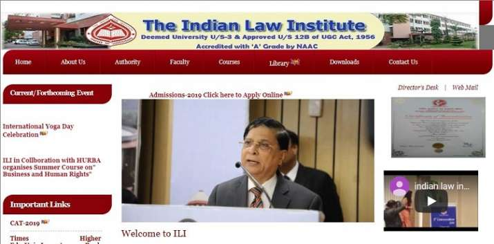 ILICAT 2019: Indian Law Institue to release first merit