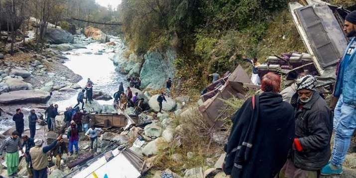 Bus accident in Kishtwar