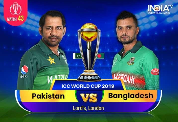 Pakistan Vs Bangladesh 2019 World Cup Watch Pak Vs Ban