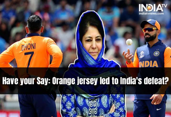 Mehbooba Mufti blames orange jersey for Team India's defeat against England. Do you agree?