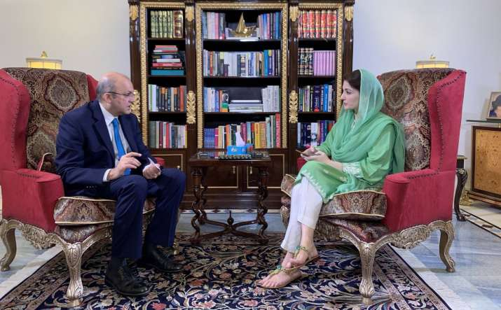 Maryam Nawaz's interview went off air within a few minutes