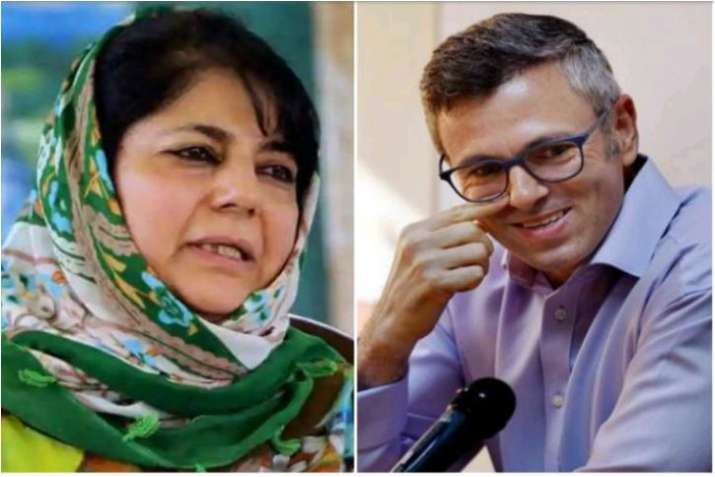 Image result for mehbooba mufti and omar abdullah