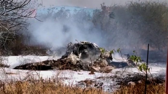 India Tv - Mirage 2000 fighter aircraft after it crashed in Bengaluru