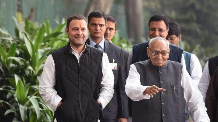 Rahul Gandhi resigned as Congress president at a CWC