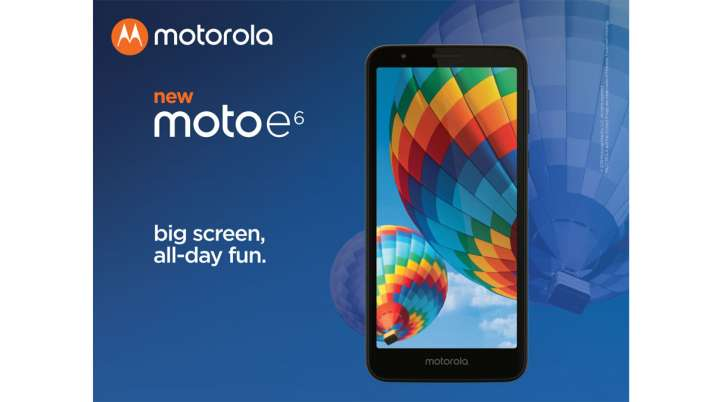 Moto E6 with splash resistant body and a 5.5-inch HD+ display announced