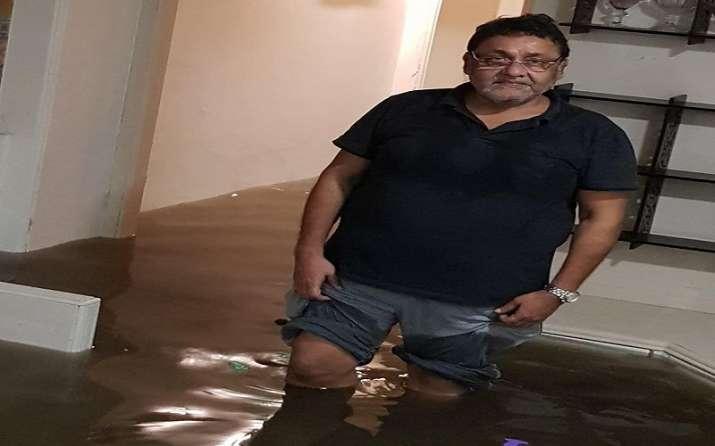 Waterlogging at NCP Leader Nawab Malik's Kurla residence
