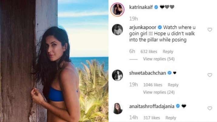 India Tv - Arjun Kapoor makes fun of Katrina Kaif's latest picture on a beach