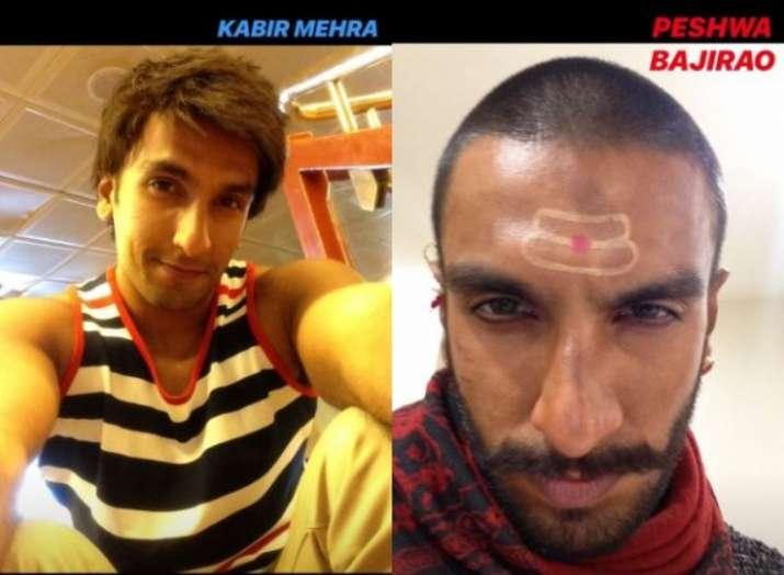 India Tv - Ranveer Singh as Kabir Mehra from Dil Dhadakne Do andPeshwa Bajirao from Bajirao Mastani