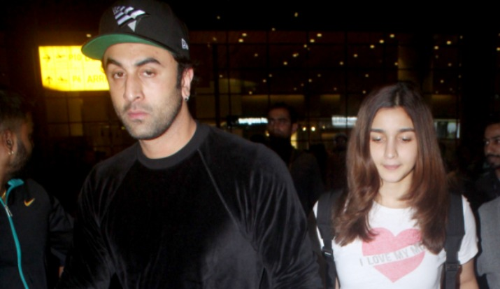 India Tv - Ranbir Kapoor and Alia Bhatt spotted at the airport as they return from New York.