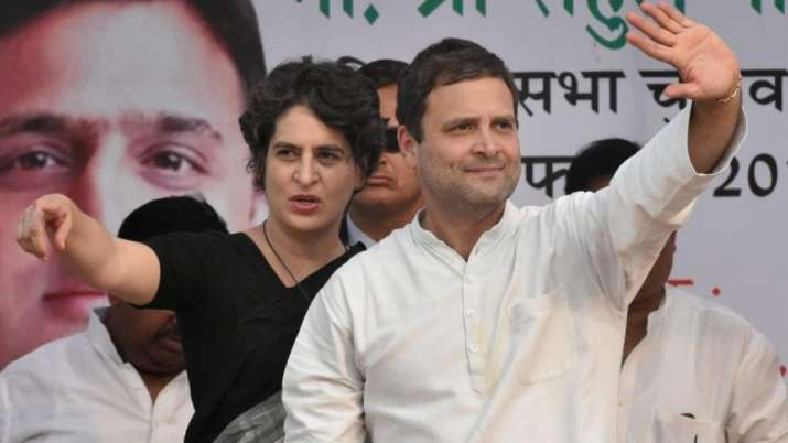 Outgoing Congress chief Rahul Gandhi and party General Secretary Priyanka Gandhi on Tuesday slammed
