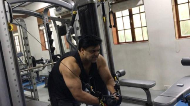 India Tv - Ram Kapoor's workout picture