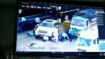 Driver mistakenly hits accelerator, runs car over crowd in