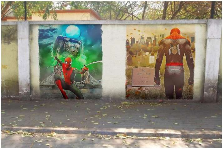 India Tv - Spider-Man on India tour with art