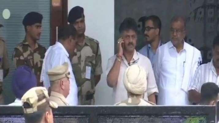 Shivakumar on Wednesday drove straight from the Mumbai