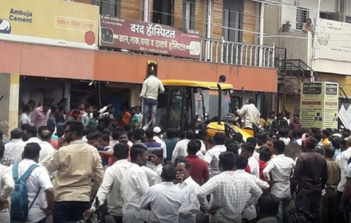 Bank of Maharashtra roof collapse