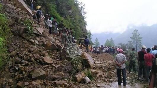 Heavy rains trigger massive landslide in Uttarakhand's Tehri