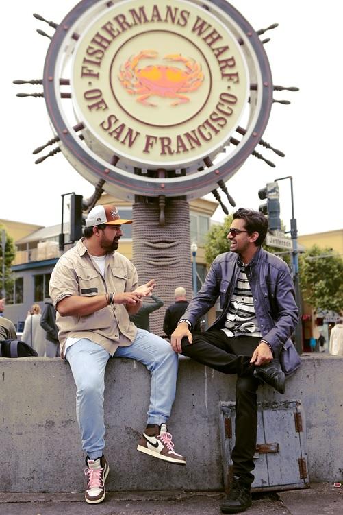 India Tv - Rannvijay with his brother-in-law at Fisherman's Wharf, San Francisco