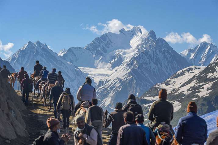 Over 5K pilgrims leave Jammu on Amarnath Yatra