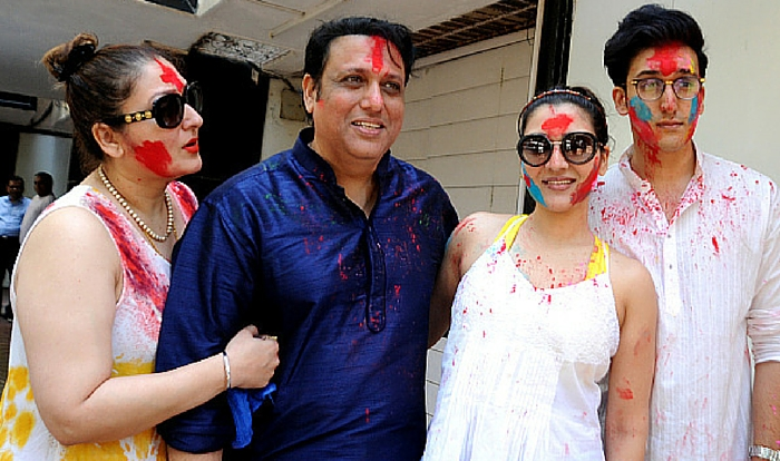 India Tv - Govinda with wife Sunita and kids