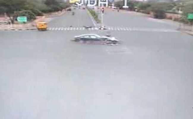 Video captures horrific moment when speeding Audi tosses