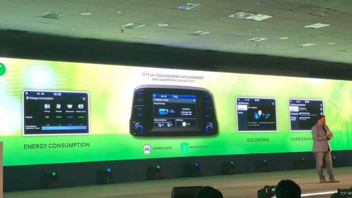 India Tv - Hyundai Kona Electric: 17.77 Touchscreen Infotainment System