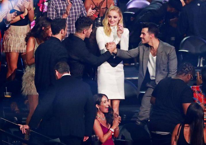 India Tv - Jonas Brothers after their VMA win, Priyanka Chopra had a hilarious response to Nick Jonas's awkward
