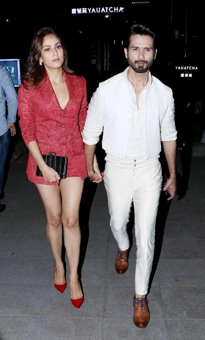 India Tv - Shahid Kapoor and wife Mira Kapoor