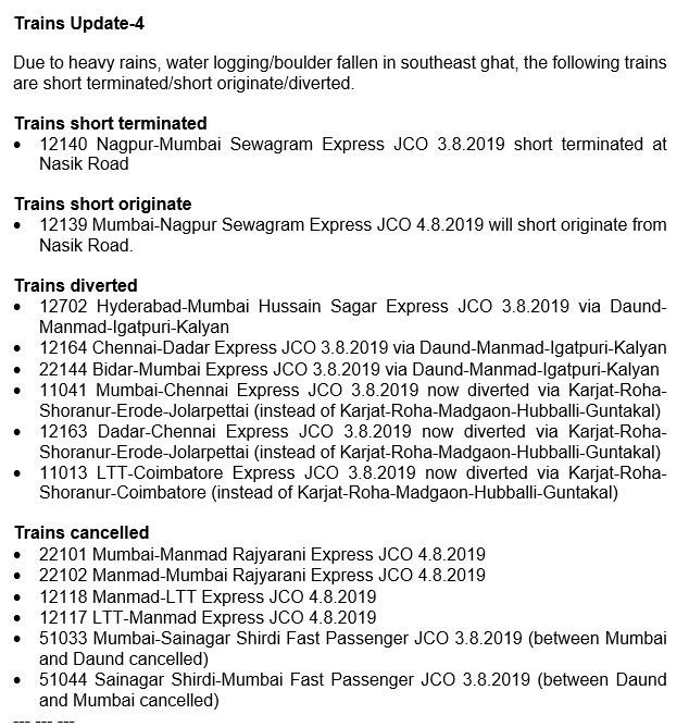 India Tv - List of delayed trains/cancelled trains in Mumbai