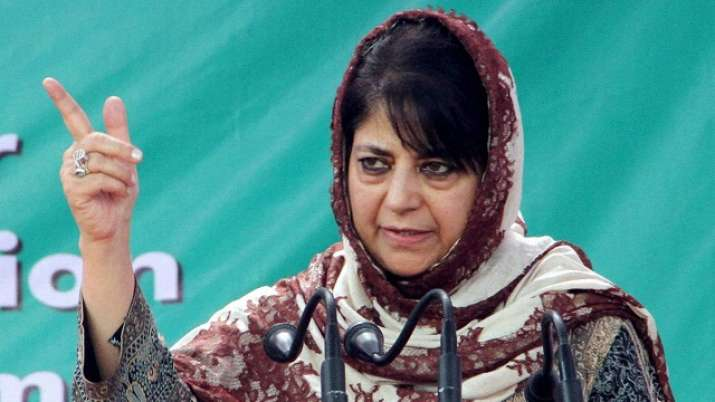 Mehbooba Mufti using terror language; should be booked for