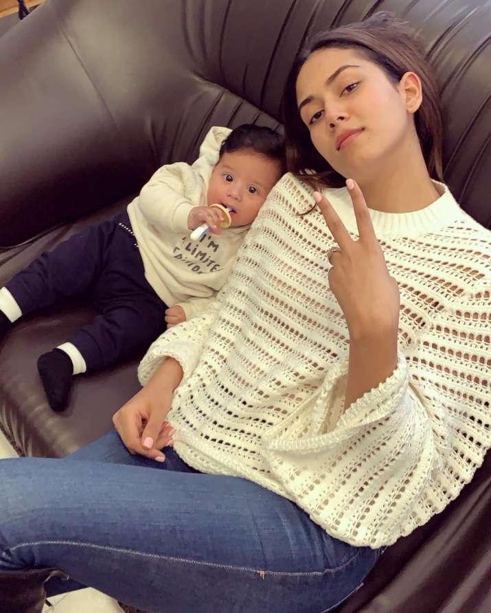 India Tv - Mira Kapoor with her son Zain