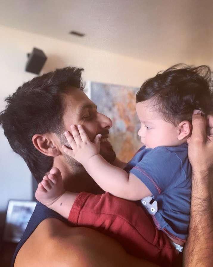 India Tv - Shahid Kapoor with his son Zain