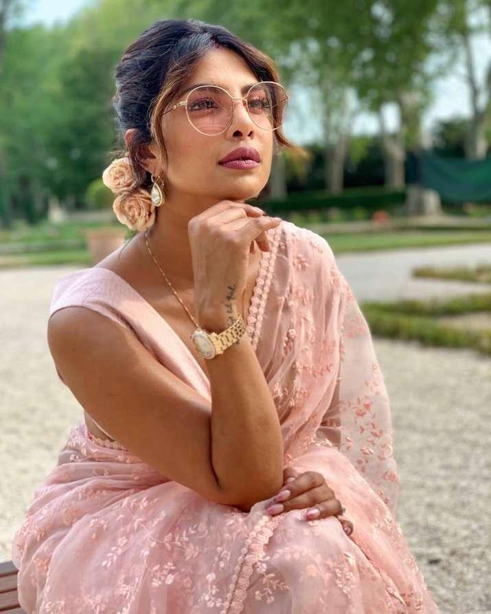 India Tv - Priyanka Chopra flaunts her saree love