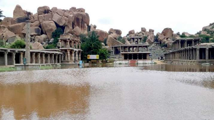 World Heritage Site Hampi partially inundated