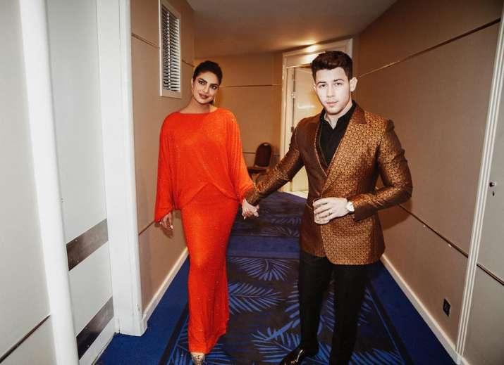 India Tv - Priyanka Chopra and Nick Jonas at Cannes 2019, Priyanka Chopra misses Nick Jonas' victory moment at