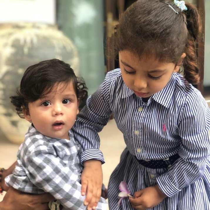 India Tv - Shahid Kapoor and Mira Kapoor's kids Zain and Misha